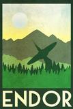 Endor Retro Travel Poster 写真