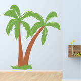 Dino Palms Brown Wall Decal Wall Decal