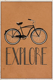 Explore Retro Bicycle Player Poster ポスター