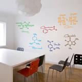 Sweet Molecules Wall Decal Decalques de parede