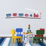 Choo Choo Train Set Red Wall Decal Decalques de parede