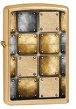 Weld Blocks Gold Dust Zippo Lighter Lighter