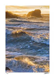 Half Moon Bay Breakers Giclee Print by Donald Satterlee