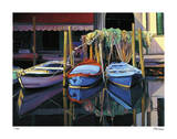 Chioggia Boats Giclee Print by Tom Swimm