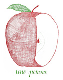 Une Pomme Letterpress Print by Eva Jorgensen