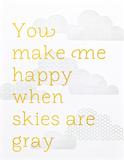 You Make Me Happy Letterpress Print por Stephanie Ford