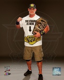 John Cena with the WWE Championship Belt 2013 Posed Photo