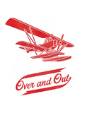 Over + Out Letterpress Print by  Amy Shaffer and Kris Mills