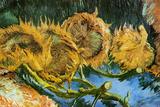 Vincent Van Gogh Four Cut Sunflowers Poster Posters by Vincent van Gogh