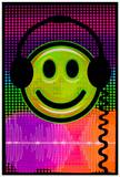 Audio Smile Flocked Blacklight Poster Print