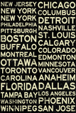 National Hockey League Cities Vintage Style Print