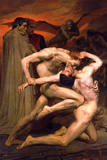 William-Adolphe Bouguereau Dante And Virgil In Hell Posters by William Adolphe Bouguereau