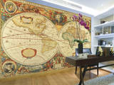 Antique World Map Giant Wall Mural Poster Wallpaper Mural
