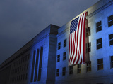 A Memorial Flag Is Illuminated On the Pentagon Photographic Print by Stocktrek Images