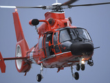 A Coast Guard MH-65 Dolphin Helicopter  in Flight Photographic Print by Stocktrek Images