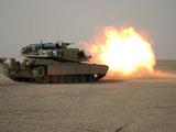 U.S. Marine Corps Personnel Fire Their M1A1 Main Battle Tank Gun Photographic Print by Stocktrek Images