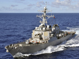 Guided-missile Destroyer USS Hopper Underway in the Pacific Ocean Photographic Print by Stocktrek Images