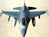 Pilot Gives a Thumbs Up After Successfully Refueling His F-16 Fighting Falcon Photographic Print by Stocktrek Images