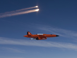 A BQM-74 Target Drone Fires Flares Photographic Print by Stocktrek Images