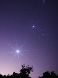 Alignment Between Venus, Jupiter And Pleiades M45 Photographic Print by Stocktrek Images