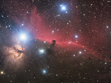 Horsehead Nebula And Flame Nebula in Orion Photographic Print by Stocktrek Images