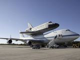 Space Shuttle Endeavour Mounted On a Modified Boeing 747 Shuttle Carrier Aircraft Photographic Print by Stocktrek Images
