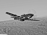 A P-51D Mustang in Flight Over Hollister, California Photographic Print by Stocktrek Images
