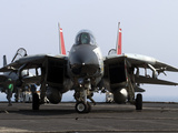 An F-14D Tomcat On the Flight Deck of USS Theodore Roosevelt Photographic Print by Stocktrek Images