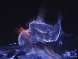 Kawah Ijen, Burning Sulfur, Java Island, Indonesia Photographic Print by Stocktrek Images