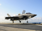 An F-35B Lightning II Lifts Off the Flight Deck of USS Wasp Photographic Print by Stocktrek Images