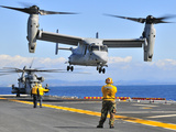 An MV-22 Osprey Takes Off from the Flight Deck of USS Peleliu Photographic Print by Stocktrek Images