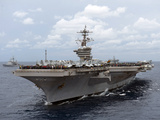 Nimitz Class Aircraft Carrier USS Carl Vinson Transits the Bay of Bengal Photographic Print by Stocktrek Images