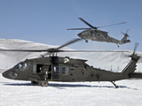 Two U.S. Army UH-60 Black Hawk Helicopters Photographic Print by Stocktrek Images