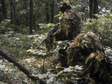 A Marine Sniper Team Wearing Camouflage Ghillie Suits Photographic Print by Stocktrek Images