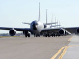 KC-135 Stratotankers in Elephant Walk Formation On the Runway Photographic Print by Stocktrek Images