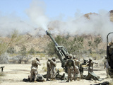 Marines Shoot 100-pound Rounds from Their M777 Lightweight Howitzer Photographic Print by Stocktrek Images