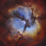 M20, the Trifid Nebula in Sagittarius Photographic Print by Stocktrek Images