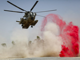 A CH-53D Sea Stallion Helicopter Landing To Deliver Supplies at Patrol Base Jaker, Afghanistan Photographic Print by Stocktrek Images