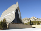 The Cadet Chapel at the U.S. Air Force Academy in Colorado Springs, Colorado Photographic Print by Stocktrek Images