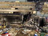 Aerial View of the Terrorist Attack On the Pentagon On September 11, 2001. Photographic Print by Stocktrek Images