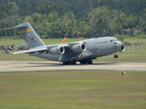 A Boeing C-17 Globemaster III of the U.S. Air Force Taking Off Photographic Print by Stocktrek Images