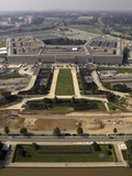 Aerial Photograph of the Pentagon with the River Parade Field in Arlington, Virginia Photographic Print by Stocktrek Images