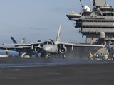 An S-3B Viking Prepares To Launch from USS John C. Stennis Photographic Print by Stocktrek Images