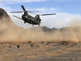 A CH-47 Chinook Prepares To Land Photographic Print by Stocktrek Images