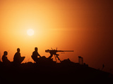 Soldiers Set Up a Security Outpost During Operation Desert Storm Photographic Print by Stocktrek Images