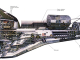 Illustration of An Orbiter Cutaway View of a Space Shuttle Photographic Print by Stocktrek Images