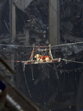 A Rescue Dog Is Transported Out of the Debris of the World Trade Center Photographic Print by Stocktrek Images