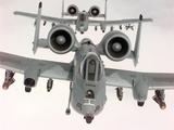 Two U.S. Air Force A-10A Warthogs in Flight Photographic Print by Stocktrek Images