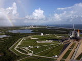 Space Shuttle Atlantis And Endeavour On the Lanch Pads at Kennedy Space Center in Florida Photographic Print by Stocktrek Images