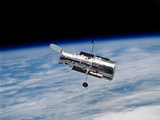 Hubble Space Telescope in Orbit Around Earth Photographic Print by Stocktrek Images